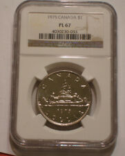 1975 Voyageur One Dollar of Canada NGC PL 67 superb Gem BU PROOFLIKE