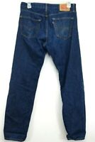 Levis Mens 505 0216 Dark Blue Regular Fit Straight Leg Denim Jeans Size 34 x 34