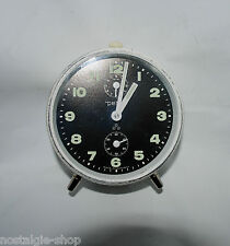 orig. AÑOS 50 60 PETER Reloj despertador blanco metal cuerda manual 50s 401