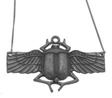 """Sacred Egypt Scarab Beetle Sterling Silver pendant charm with 18"""" necklace"""