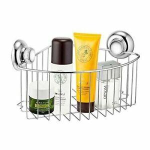 Bathroom Storage Basket Holder Shelf Shower Caddy Shampoo Suction Cup S Steel