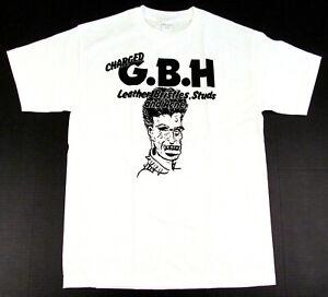 CHARGED GBH T-shirt G.B.H. Studs Punk Rock Tee Adult S,M,L,XL White New