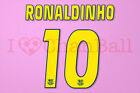 Ronaldinho #10 2004-2006 Barcelona Homekit Nameset Printing