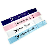 1pcs Satin Sash Mom To Be Baby Shower Party Favor Decor Ribbon Mom To Be Sash 3C