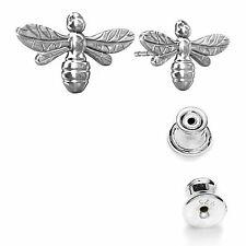 Eurojewellery 925 Sterling Silver Bumble Bee Stud Earrings