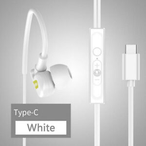 USB Type-C Plug In-Ear Headset Stereo Earphone With MIC For Mobile phone Sport