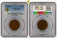 1916-I AUSTRALIA 1/2 ONE HALF PENNY PCGS XF45 OLD COIN IN HIGH GRADE