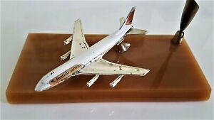 BOEING 747 MODEL PLANE  JET LESNY 1-75  MATCHBOX GIFTWARE  PEN HOLDER 1974 UK