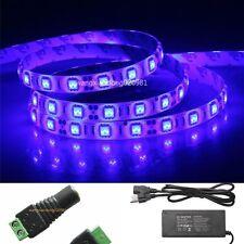 5M 5050 LED Strip Plant Grow Light Blue 4 Aquarium Greenhouse Hydroponic &12V 6A