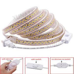 Ultra Bright 5730 LED Strip 180/240LEDs/m Flexible Tape Lights Waterproof 110V