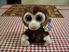 RETIRED TY BEANIE BOO COCONUT THE MONKEY FIRST EDITION SOLID EYES NWT !!