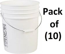 (10) ea Leaktite 5Glskd White Plastic 5 Gallon Buckets