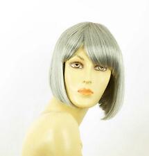 Perruque femme grise cheveux lisses ref  MAIA 51