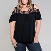 extragrande mujer blusa suéter Mujer Casual Manga Corta Holgado T Camiseta