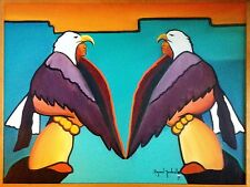 RAYMOND NORDWALL (American CHEROKEE b 1965) Original Oil Painting on Canvas 1986