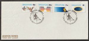 (F39)SINGAPORE 1973 AVIATION FDC. CAT RM 28