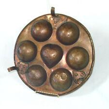 3 Legged Antique Copper Ebelskiver Pan