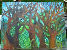 TREES  by Ruth Freeman ACRYLIC ON UNSTRETCHED CANVAS 36 X 48