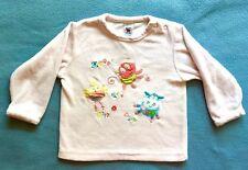 Nicki-Langarmshirt mit süßer Stickerei von Baby Club (C&A) in Größe 74, rosa