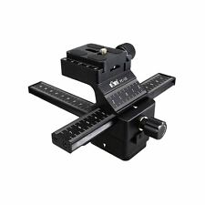 Kiwifotos FC-1II Pro 4 Ways Macro Focusing Rail Slider with Quick Release Plate