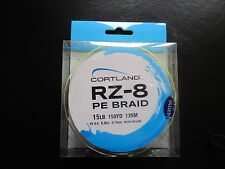 NEW Cortland RZ-8 PE 150yds 15lb Hi-Vis Yellow braid line