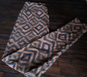 NWT LuLaRoe Leggings One Size OS UNICORN geometric orange and Blue