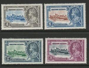 British Guiana 1935 Silver Jubilee set SG 301-304 Mint.
