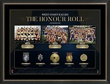 West Coast Eagles AFL Premiers Honour Roll with Medallions Print Framed OFFICIAL