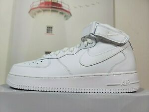 Nike Men's Air Force 1 Mid '07 Triple White Casual Shoes CW2289-111 Size 11