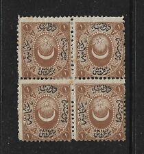 1865 Stamps of Turkey Duloz Postage due Mint Block of 4  (Lot C6)