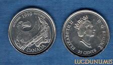 Canada Millennium 25 Cents Octobre 1999 Tribute to the first Nation Arborigéne O