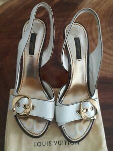 Louis Vuitton Women heels Open Toe Shoe Size 8 (38)
