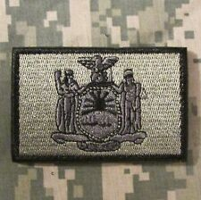 NEW YORK STATE FLAG USA ARMY MORALE ACU VELCRO® BRAND FASTENER BADGE PATCH