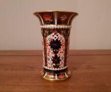 "V-Rare Antique Royal Crown Derby - Imari 1128 - ""WHITE JEWELLED VASE"" - c.1918."