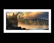 THE ARGONATH - PILLARS OF THE KINGS art print poster lord of the rings weta