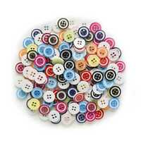 100pcs Round Resin Buttons for Sewing Scrapbooking Cloth Home Crafts Decor 12mm
