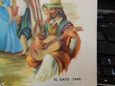 Guitar Player carte postale apanish El gato vintage objet