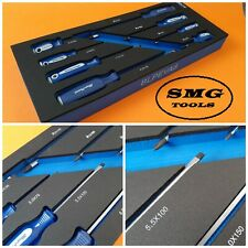 Blue Point 8pc Screwdriver Set Tool Control Foam Inc VAT New As sold by Snap On.