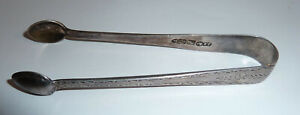 Antique Irish Silver Sugar Tongs / Nips John Smyth 1889 Dublin Fully Hallmarked