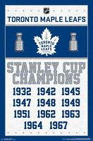 TORONTO MAPLE LEAFS - CHAMPIONS POSTER - 22x34 NHL HOCKEY 15325