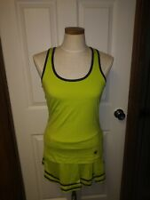 Boast Lime Green Tennis Outfit 2 Piece Sz M