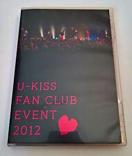 U-KISS Fan Club Event 2012 Japan Press DVD KissMe Japan Exclusive
