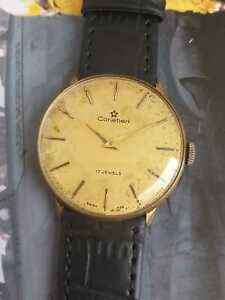 Vintage Cortebert ref 80.105 Hand Winding Men watch Gold Plated Swiss