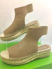 New Palomitas By Paloma Barcelo Taupe Leather Platform Espadrilles EUR 41/US 9