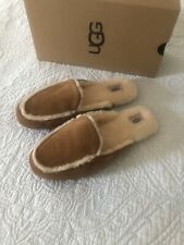 Ugg Lane UGGpure Wool Lined Suede Slipper Chestnut Women Size 8 New in Box