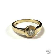 Solitär Brillantring 585 er Gold Ring Brillant ca. 0,6 ct Gelbgold Gr. 60