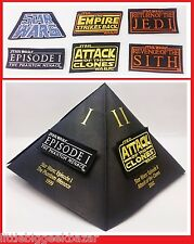 STAR WARS Set de 7 Patch Badges Collector 2005 lot # NEUF #