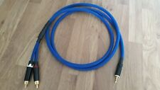 Quality 3.5mm stereo Jack to 2xRCA phono Klotz MC5000 Y splitter cable 1.5m