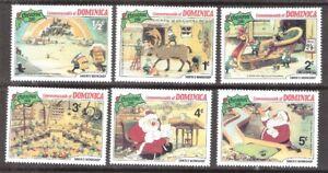 Dominica 1981 Disney Characters Santa's Workshop MNH (SC# 706-711)