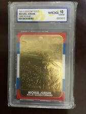 1998 Fleer 23KT GOLD Michael Jordan Rookie Reprint WCG Graded GEM MINT 10